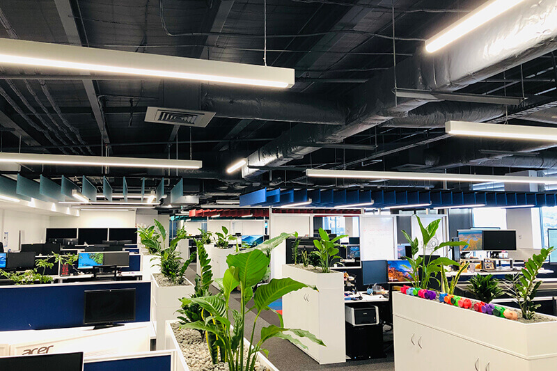With a growing team, we were engaged to create an open plan office environment with collaboration areas in an 800sq/m first-floor office at Westfield Albany.