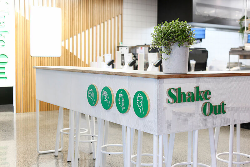 Burgers, sides, and shakes. Goodside at Smales Farm proved the perfect location for the first store of this kiwi born, raised, and locally-owned brand.