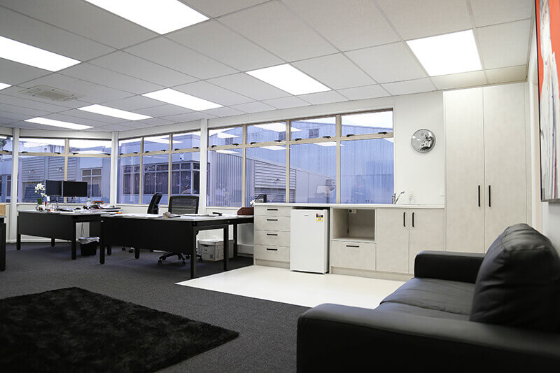 For 9 months the client had an empty building with no joy securing contractors. We turned up and quickly transformed an empty shell into a tidy operational space for the team at Test & Tag.