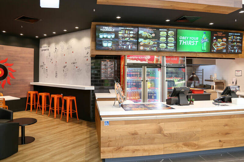 A comprehensive fitout of a food tenancy at Hunters Plaza for this iconic Aussie brand serving 100% fresh flame-grilled chicken.
