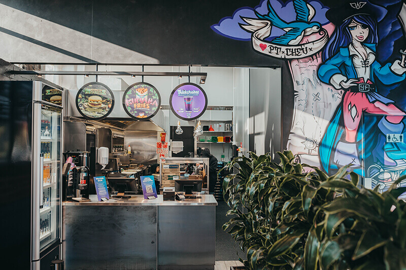 Taking over a run-down cafe, the message was clear – create a space full of character the customer won't forget.